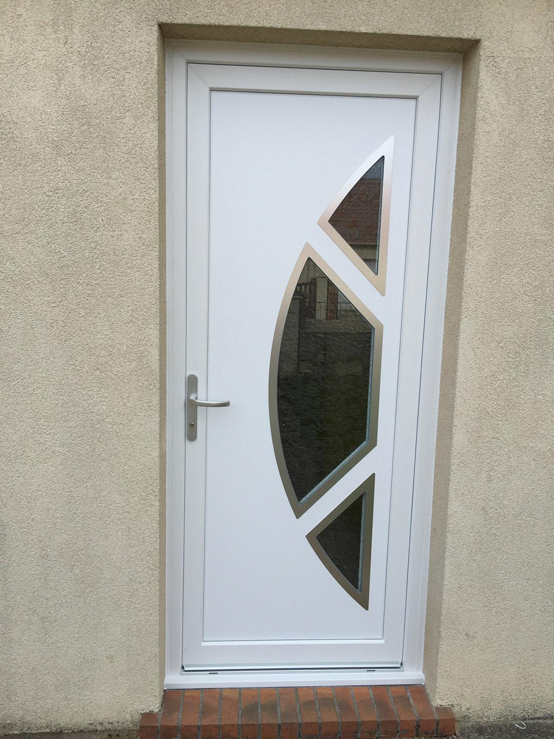 portes d39entree jeco With porte d entrée pvc avec produit d entretien salle de bain